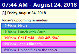 Upcoming reminders of HandyPIM